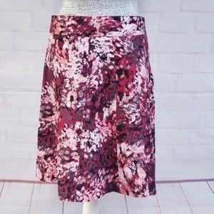 Ann Taylor A-line Abstract Print Skirt